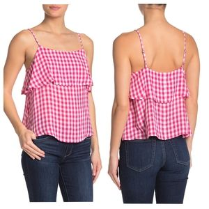 NWT Abound Nordstrom Pink White Gingham Plaid Cami